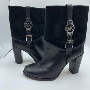Michael Kors Fulton Bootie Suede Cuffed Size 7.5